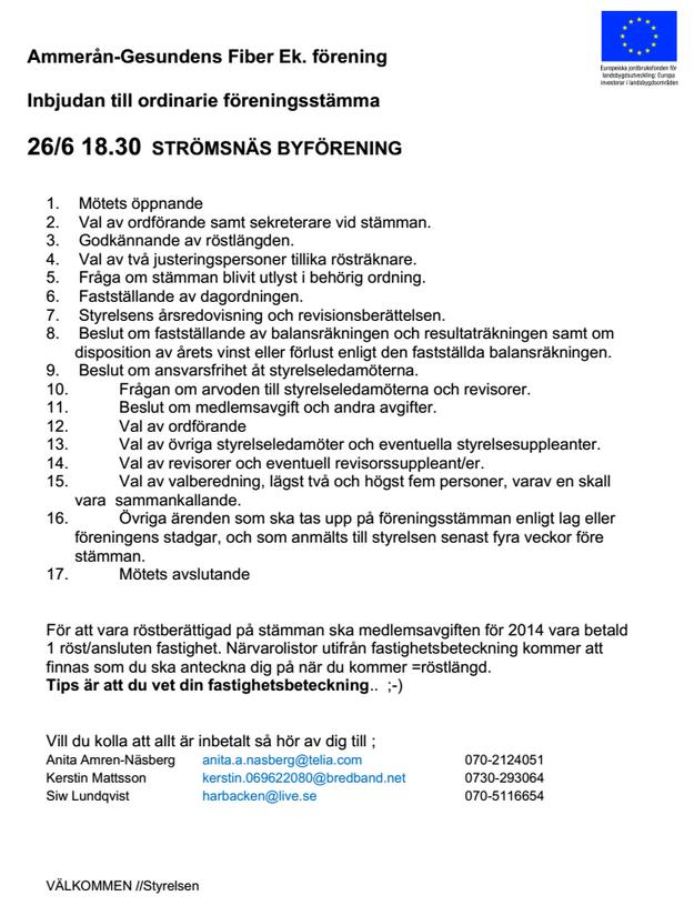 Årsstämma-2014